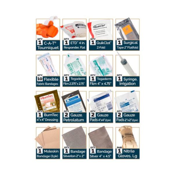 Micro IFAK Aid Kit Contents